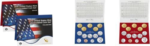 Lieferumfang:USA : 13,82 Dollar 2 x 6,91 $ 2015 Jahressatz incl. 5x25 Cent - D + P  2015 Stgl.