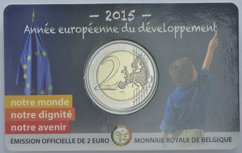 Lieferumfang :Belgien : 2 Euro Europäisches Jahr für Entwicklung  2015 Stgl.