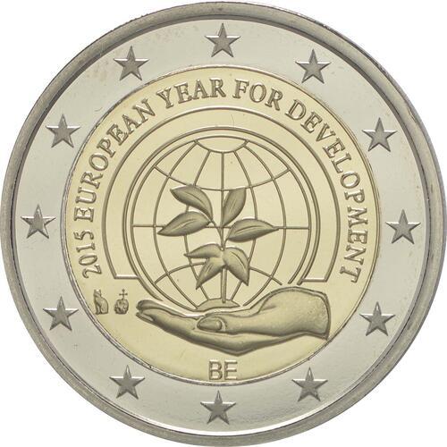 Rückseite:Belgien : 2 Euro Europäisches Jahr für Entwicklung  2015 PP
