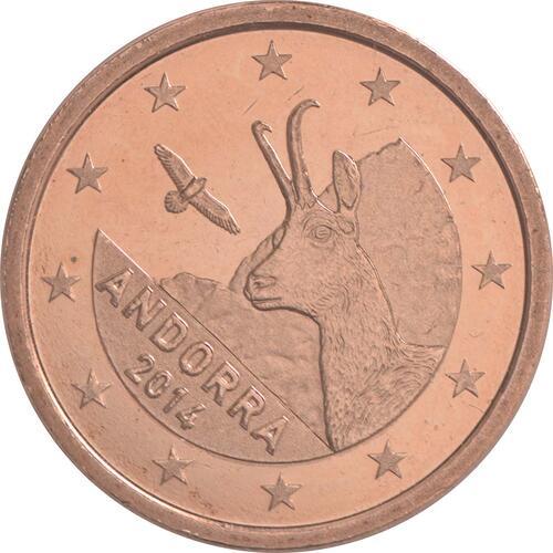 Rückseite :Andorra : 1 Cent Andorra  2014 bfr