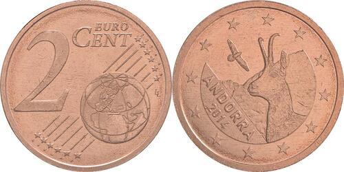 Lieferumfang:Andorra : 2 Cent Andorra  2014 bfr