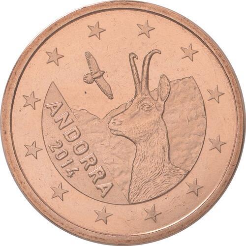 Rückseite:Andorra : 5 Cent Andorra  2014 bfr