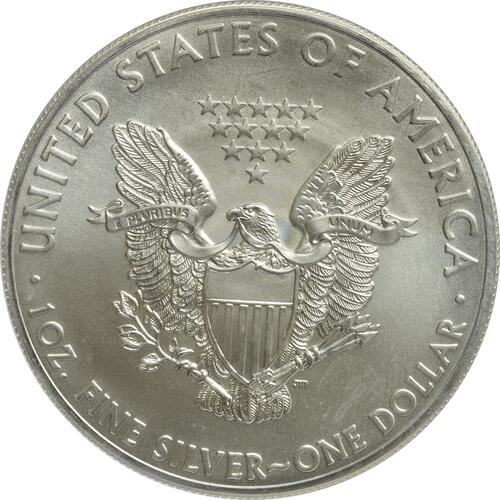 "Rückseite :USA : 1 Dollar Silber Eagle ""Washington-Monument""  2015 Stgl."