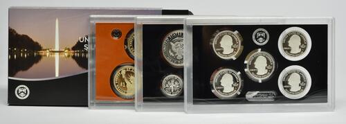 """Lieferumfang :USA : 6,91 Dollar 2015 """"Silber"""" Jahressatz incl. 5x25 Cent  2015 PP"""