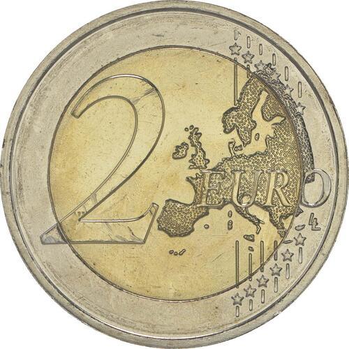 Vorderseite :Luxemburg : 2 Euro 30 Jahre Europäische Flagge  2015 bfr