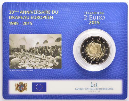 Lieferumfang:Luxemburg : 2 Euro 30 Jahre Europäische Flagge  2015 Stgl.
