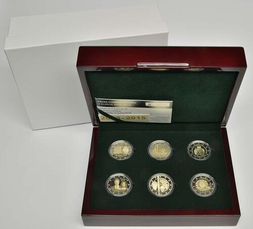 Lieferumfang:Luxemburg : 12 Euro Sondersatz 6 x 2 Euro Gedenkmünzen von 2013-2015  2015 PP