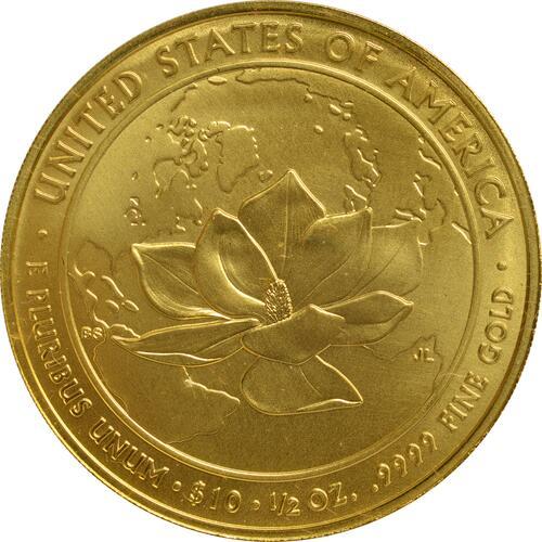 Rückseite :USA : 10 Dollar Jacqueline Kennedy - Präsidentengattinnen  2015 Stgl.