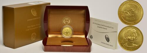 Lieferumfang :USA : 10 Dollar Jacqueline Kennedy - Präsidentengattinnen  2015 Stgl.