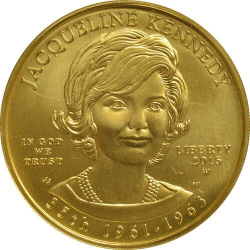 Vorderseite :USA : 10 Dollar Jacqueline Kennedy - Präsidentengattinnen  2015 Stgl.