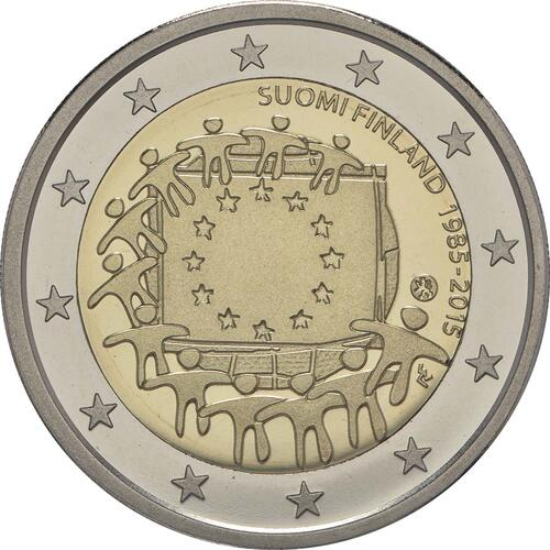 Rückseite :Finnland : 2 Euro 30 Jahre Europäische Flagge  2015 PP