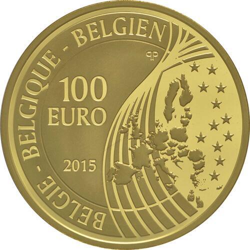 Rückseite:Belgien : 100 Euro König Philip  2015 PP