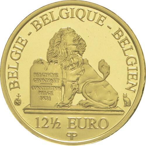 Rückseite:Belgien : 12,5 Euro Königin Mathilde  2015 PP