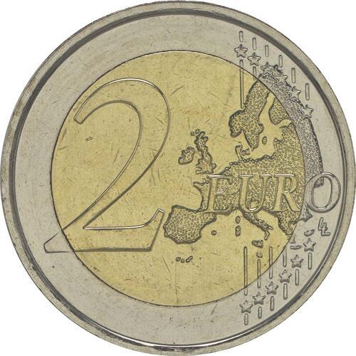 Vorderseite:Belgien : 2 Euro 30 Jahre Europäische Flagge  2015 bfr