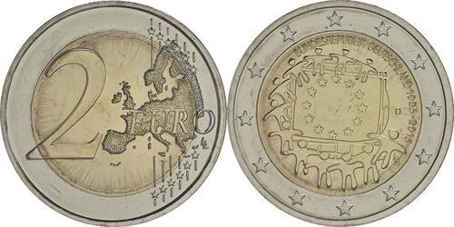 Lieferumfang:Deutschland : 2 Euro 30 Jahre Europäische Flagge  2015 bfr