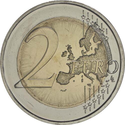 Vorderseite:Deutschland : 2 Euro 30 Jahre Europäische Flagge  2015 bfr