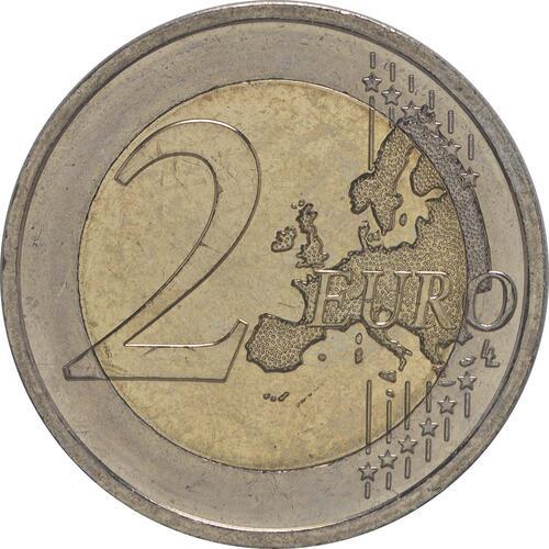 Vorderseite:Irland : 2 Euro 30 Jahre Europäische Flagge  2015 bfr