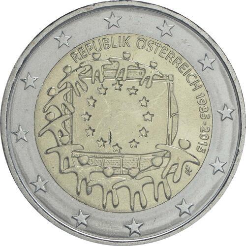 Rückseite:Österreich : 2 Euro 30 Jahre Europäische Flagge  2015 bfr