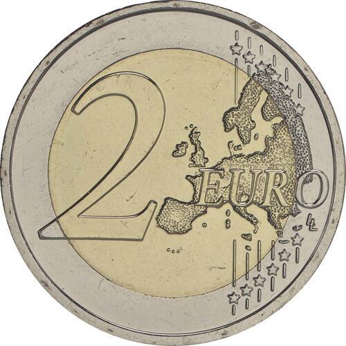 Vorderseite:Slowakei : 2 Euro 30 Jahre Europäische Flagge  2015 bfr