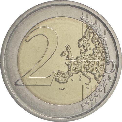Vorderseite :Slowenien : 2 Euro 30 Jahre Europäische Flagge  2015 bfr