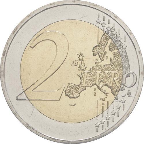 Vorderseite:Zypern : 2 Euro 30 Jahre Europäische Flagge  2015 bfr