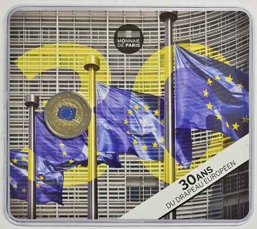 Lieferumfang :Frankreich : 2 Euro 30 Jahre Europäische Flagge  2015 Stgl.