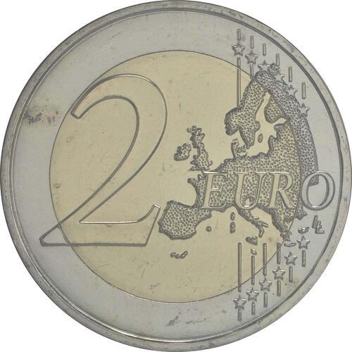 Vorderseite :Frankreich : 2 Euro 30 Jahre Europäische Flagge  2015 Stgl.