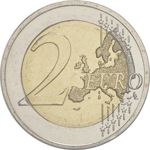 Vorderseite:Griechenland : 2 Euro 30 Jahre Europäische Flagge  2015 bfr