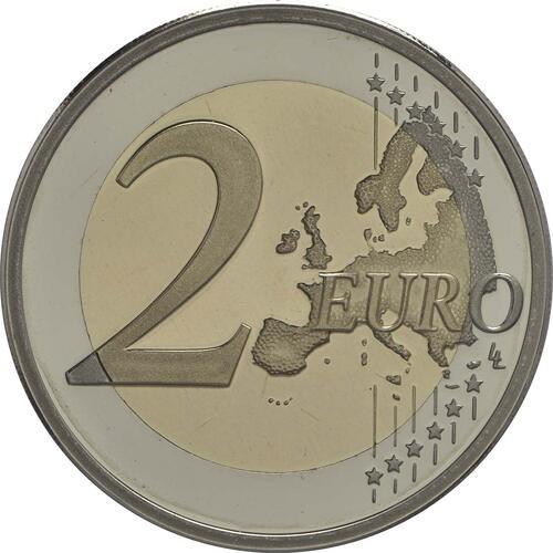 Vorderseite :Niederlande : 2 Euro 30 Jahre Europäische Flagge  2015 PP