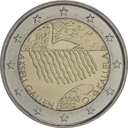 Rückseite:Finnland : 2 Euro 150. Geburtstag des Künstlers Akseli Gallen-Kallela  2015 bfr