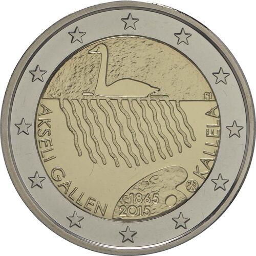 Rückseite :Finnland : 2 Euro 150. Geburtstag des Künstlers Akseli Gallen-Kallela  2015 PP