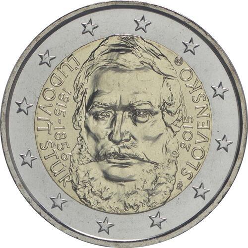 Rückseite :Slowakei : 2 Euro 200. Jahrestag der Geburt von Ludovít Stur  2015 bfr