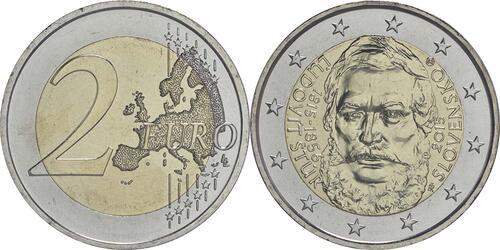 Lieferumfang :Slowakei : 2 Euro 200. Jahrestag der Geburt von Ludovít Stur  2015 bfr