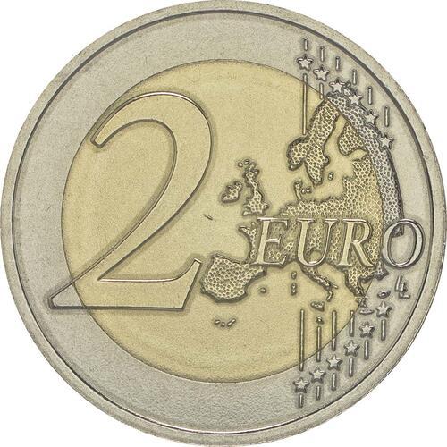 Vorderseite:Lettland : 2 Euro 10 Jahre Schwarzstorch-Schutzprogramm  2015 bfr