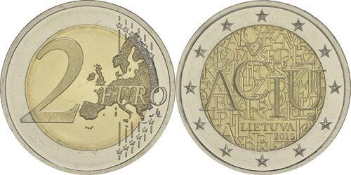 Lieferumfang:Litauen : 2 Euro Litauische Sprache  2015 bfr