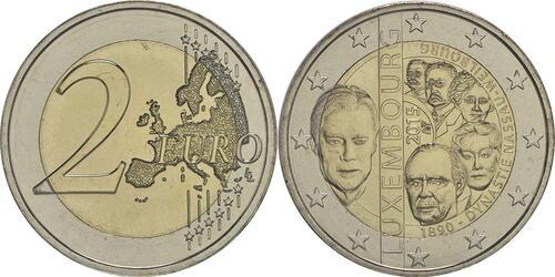 Lieferumfang:Luxemburg : 2 Euro 125. Jahrestag der Dynastie Nassau-Weilburg  2015 bfr