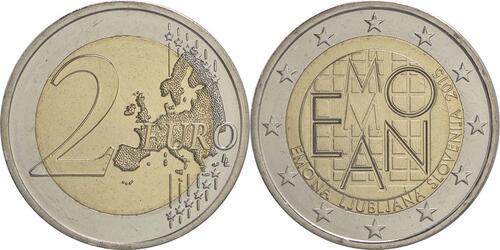 Lieferumfang :Slowenien : 2 Euro Emona-Ljubljana  2015 bfr