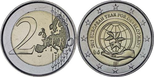 Lieferumfang :Belgien : 2 Euro Europäisches Jahr für Entwicklung  2015 bfr