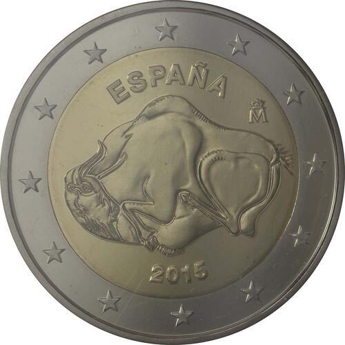 Rückseite :Spanien : 2 Euro Altamira  2015 PP