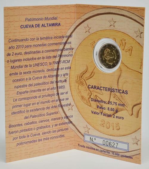 Lieferumfang :Spanien : 2 Euro Altamira  2015 PP
