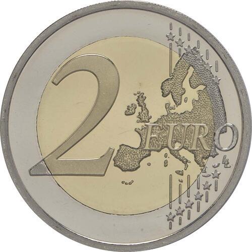 Vorderseite:Belgien : 2 Euro 30 Jahre Europäische Flagge  2015 PP