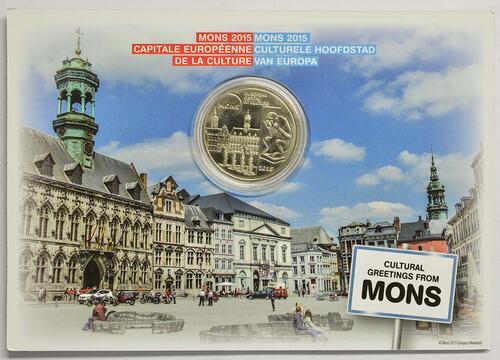 Lieferumfang:Belgien : 5 Euro Mons europäische Kulturhauptstadt 2015  2015 Stgl.