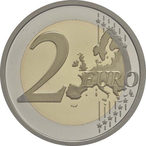 Vorderseite:Italien : 2 Euro 30 Jahre Europäische Flagge  2015 PP