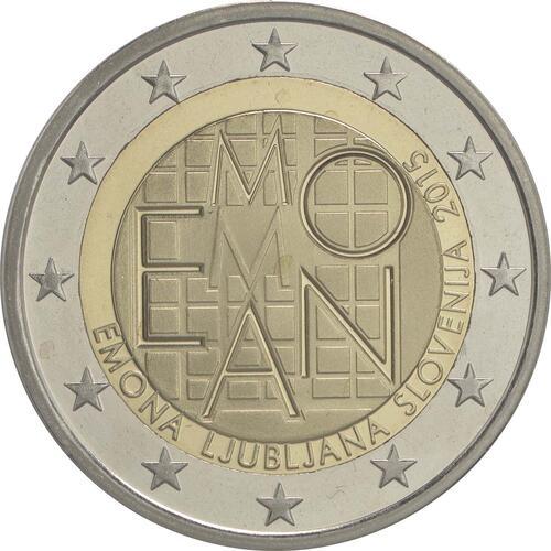 Rückseite :Slowenien : 2 Euro Emona-Ljubljana  2015 PP