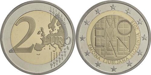 Lieferumfang :Slowenien : 2 Euro Emona-Ljubljana  2015 PP