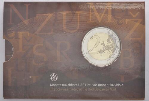 Rückseite :Litauen : 2 Euro Litauische Sprache  2015 Stgl.