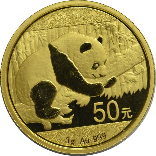 Vorderseite :China : 50 Yuan Panda  2016 Stgl.