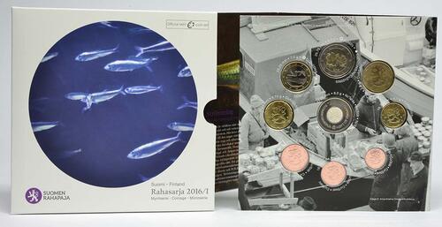 Lieferumfang:Finnland : 3,88 Euro KMS Finnland I. Fische der Ostsee - Hering  2016 Stgl.