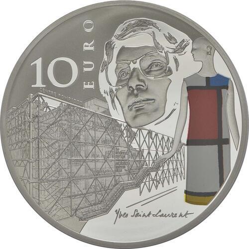 Rückseite:Frankreich : 10 Euro Zeitgenössisches Europa Yves S. Laurent  2016 PP