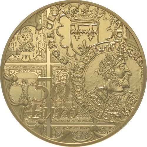 Vorderseite:Frankreich : 50 Euro Testone Münzen  2016 PP